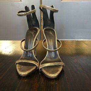 Giuseppe Zanotti Gold Heels - Harmony Heels